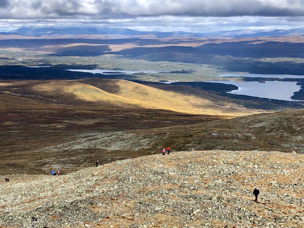 Utsikt från Pieljekaise